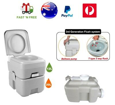 Portable Camping 20L Outdoor Toilet Camp Caravan Boating Travel Unisex Potty AU