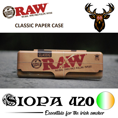 RAW Rolling PAPER CASE King Size Tin Case | Classic or Organic Hemp Design