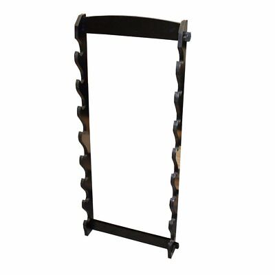 NEW SMAI Sword Display 8 Sword Wall Mount - Stained Wood Suitable for Martial...