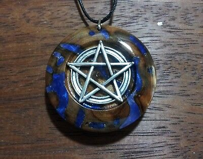 Pentacle Pendant,Wiccan,Pagan,Spiritual,Witchcraft jewellery,rustic,unisex,wood
