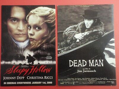 Postcard Lot of 2 : SLEEPY HOLLOW + DEAD MAN : Johnny Depp