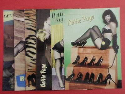 Postcard Lot of 6 : BETTY PAGE colour : Pyramid 1999