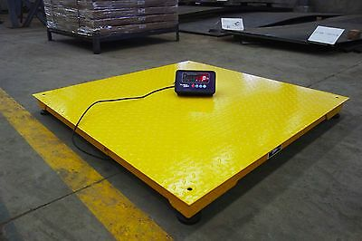 Heavy Duty 4' x 4' Industrial Floor Scale / Pallet Size 10,000 x 1 lb ***NEW***