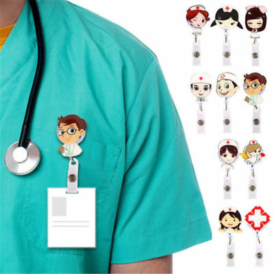 Retractable Badge Reel Hospital Nurse Doctor ID Name Card Clip Badge Holder Hot
