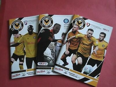 2017/18 Newport  Home Programmes Choose From