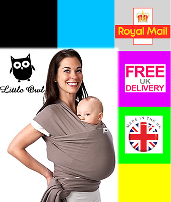 BABY SLING STRETCHY WRAP CARRIER, travel light and silky soft - MANY COLOURS!