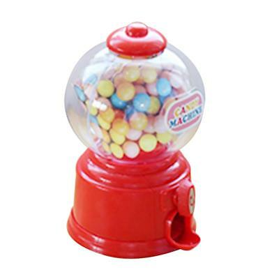 Baoblaze Mini Candy Gumball Dispenser Kids Toy Vending Machine Coin Bank Red