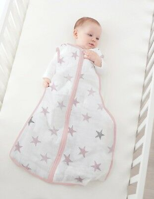 aden winter breathable muslin baby sleeping bag: doll collection 2.5 TOG MEDIUM