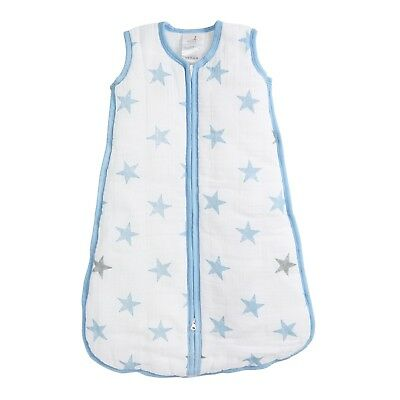 aden winter breathable muslin baby sleeping bag: dapper stars 2.5 TOG SMALL