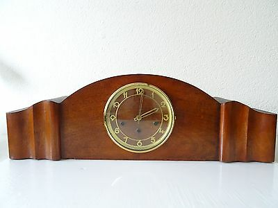 Vintage German Antique Clock WESTMINSTER Wind Up Mantel (Junghans Kienzle era)