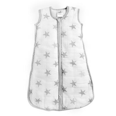 aden winter breathable muslin baby sleeping bag: dusty stars 2.5 TOG LARGE