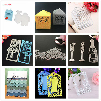 Metal Cutting Dies Memory box Flower Stencils and Stamps for Scrapbooking paper