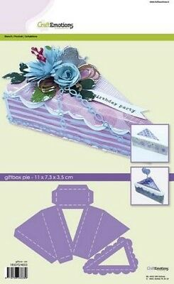 Craft Emotions A4 Stampo - Confezione Regalo - Torta #4003 11cm x 7.3cm x 3.5cm