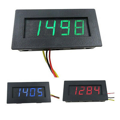 4 Digital LED Tachometer 9999RPM Speed Meter PNP/NPN Hall Proximity Switch  L1W5