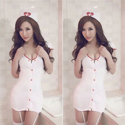 Nurse Fancy Dress Cosplay Club wear Outfit Costume Sexy Lingerie Adult Ladies
