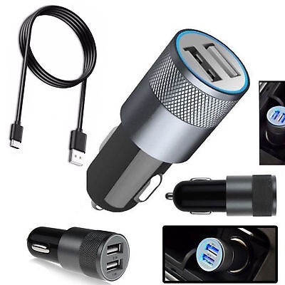 Universal Car Charger Samsung Galaxy S10e S10 S9 S8 Plus + Fast USB Type C Cable