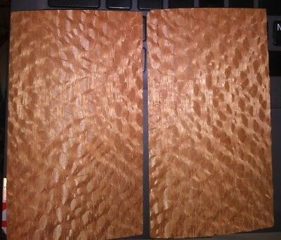 """2 pieces figured lacewood raw wood veneer 3"""" x 5"""" each & thickness is 1/42"""""""