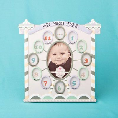 my first year collage circus tent baby frame