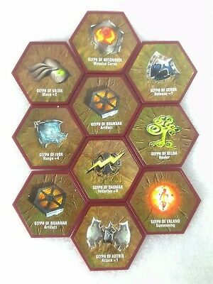 Heroscape -Rise of the Valkyrie Game Full Glyph Tile Set of 10