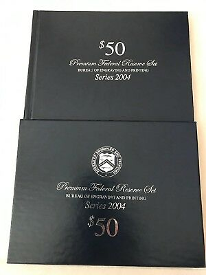 2004 $50 Premium Federal Reserve Set-Only 500 Sets Issued