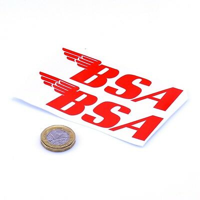 BSA Motorcycles Sticker Badge Decal Vinyl Motorbike Motorcycle STICKERS 100mm x2