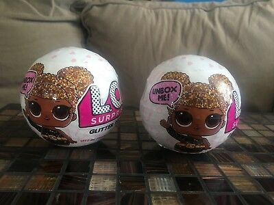 2! Authentic Glitter Series 3 LOL Surprise DOLL 7-Layers LOL Big Sisters 2 balls