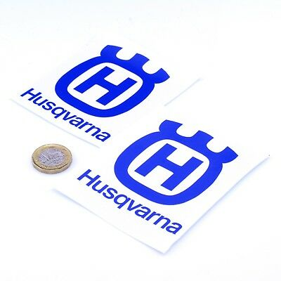 Husqvarna Motorcycles Badge Sticker Decal Vinyl Motorbike STICKERS 75mm x2