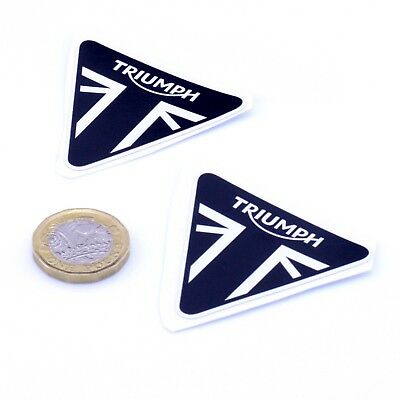Triumph Motorcycles Badge Sticker Decal Vinyl Motorbike STICKERS 50mm x2
