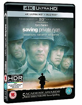 Saving Private Ryan 4K UHD Blu-ray Tom Hanks Brand New Perfect 5053083161682