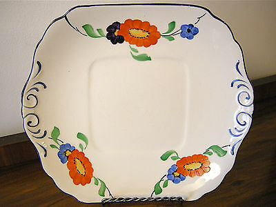 1930's Hancock's Ivory Ware Hand Painted Plate