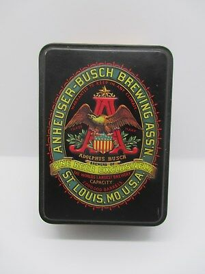Anheuser-Busch Budweiser Classic Playing Cards 2 Decks in Collectible Tin