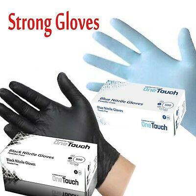 Strong Black Nitrile Blue Nitrile Powder Free Disposable Gloves Tattoo Mechanic