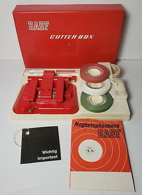 Vintage BASF Cutterbox Audiotape Slicing Kit Germany