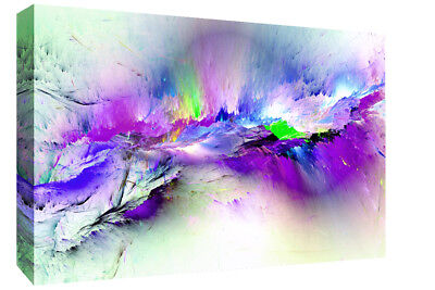 Modern Purple Tones Abstract Canvas Wall Art Picture Print A4 A1 A2 A3