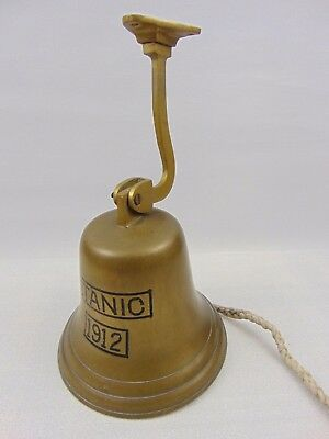 Large Brass Bell engraved with Titanic 1912 - pub - last orders bell - tavern