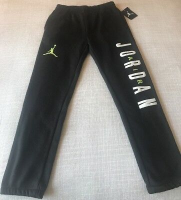 bbe3d31bc343da NWT 50 NIKE AIR JORDAN Joggers Jumpman Boys Youth Kids Sweatpants Black  Large L