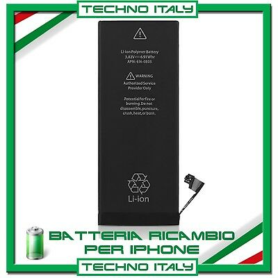 Batteria Per Apple Iphone 4-5-5S-6-6S-7-8-X Plus Nuova Ricambio Pari A Originale