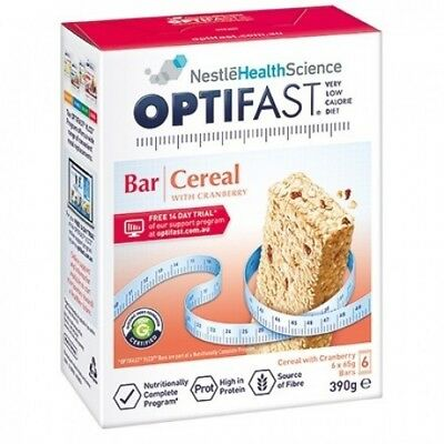 Optifast Vlcd Cereal With Cranberry Bar 6X65g