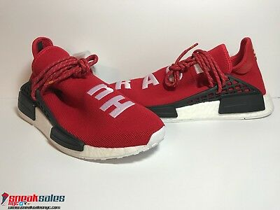 4e9ea625833a6 Adidas Pharrell Williams NMD Human Race Scarlet Red BB0616 7.5-10.5 Brand  New