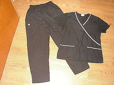 Womens Lotus Scrub Lot Top and Pants Size Small