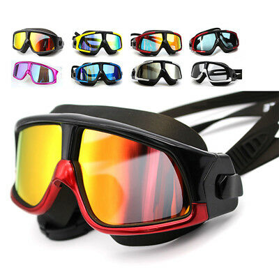 Adult Men Swimming Swim Goggles Glasses Anti-Fog UV Protection Waterproof TU
