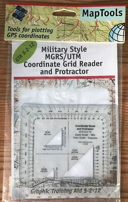 Map Tools Military Style UTM/MGRS Coordinate Scale & Protractor MapTools