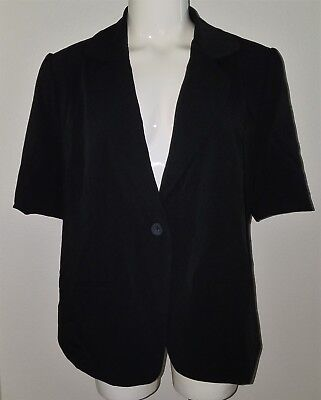 NWT Liz Lange Maternity Target Blazer Black Jacket Sz Large Career Short-Sleeve