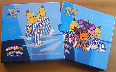 2017 5 & 20c '25 Years Bananas in Pyjamas' Carded Colored Frosted Coins