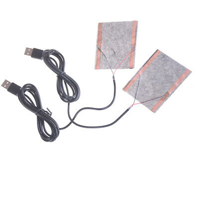 2pcs Protable USB Heating Heater Winter Warm Plate For Shoes Golves Mouse Pad@LJ