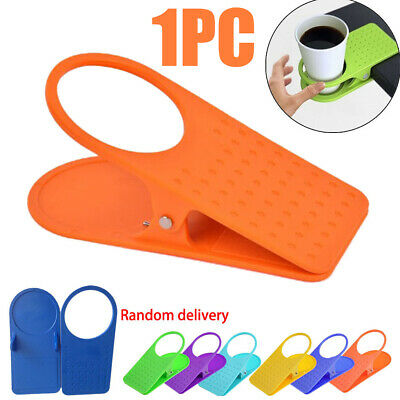 New Universal Clip On Desk Table Cup Bottle Beverage Holder Non-Slip Stand Grip