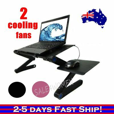 Laptop Computer Notebook Table Stand Desk Bed Tray Adjustable Folding MN