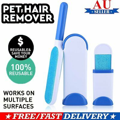 Fur Pet Fur Lint  Remover Travel Size Hair Cleaner Clothes Fabric Brush AU