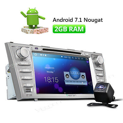 """Android 7.1 8"""" Car DVD Player Radio Stereo GPS HDMI for Toyota Camry 2007-2011 W"""