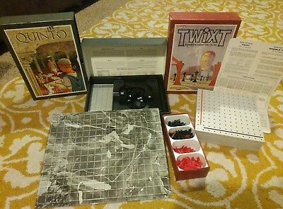 3M Bookshelf game lot Quinto and TWIXT both games are complete RARE Germany only